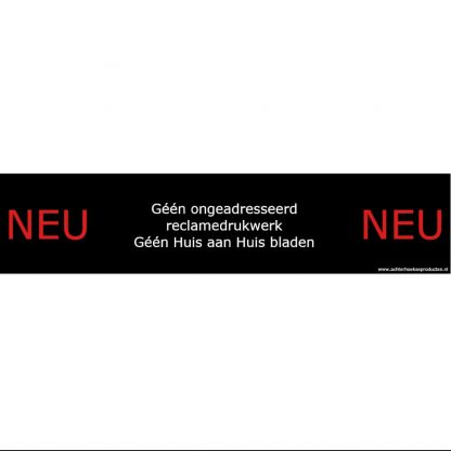 Achterhoekse brievenbussticker Neu-Neu